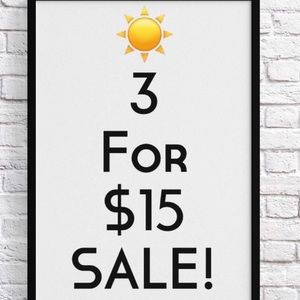 All Marked With ☀️ Are 3 For $15
